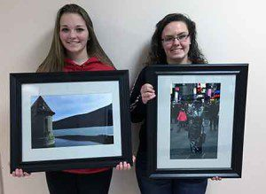11th graders Zoelle Gagnon (left) and Jenna Dennin (right)