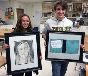 12th graders Onnah Bink (left) and Joseph Sweener (right)