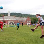 Photo of students playing on PE fun day