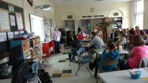 Techer presenting to collegues during professional development days