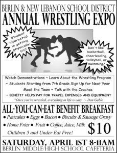 Copy of wrestling flyer with wrestlers on cover