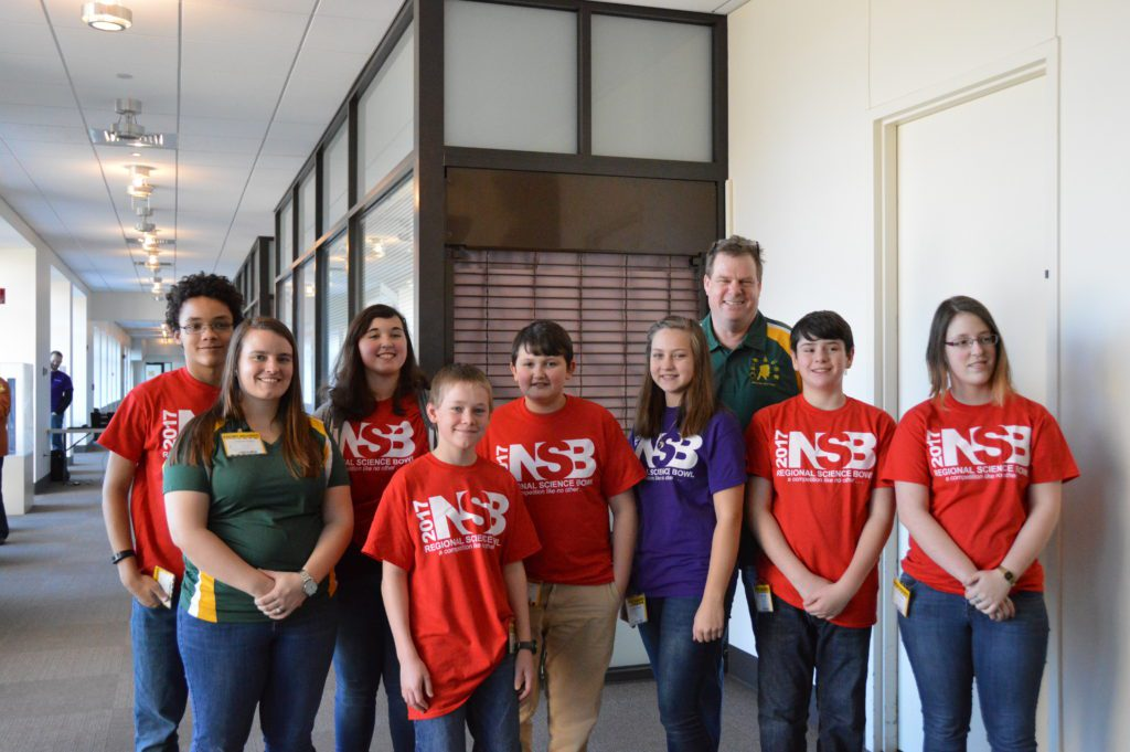 Middle School Science Bowl team at the GE Research Center in Niskayuna, NY.