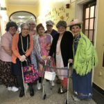 staff dressed 100 years old