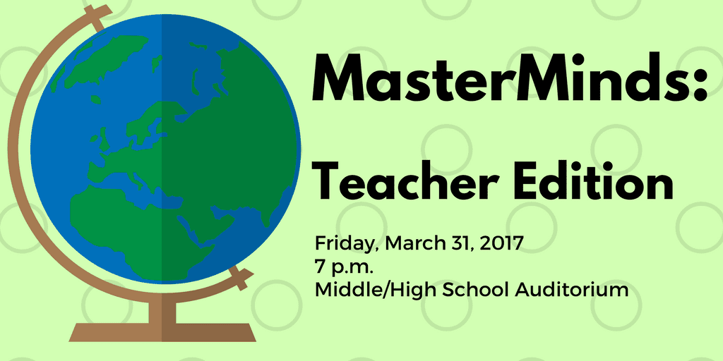 MasterMinds: Teacher Edition fundraiser