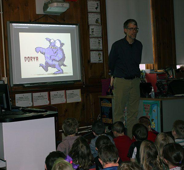 Author and Illustrator Matt McElligott Visit's BES