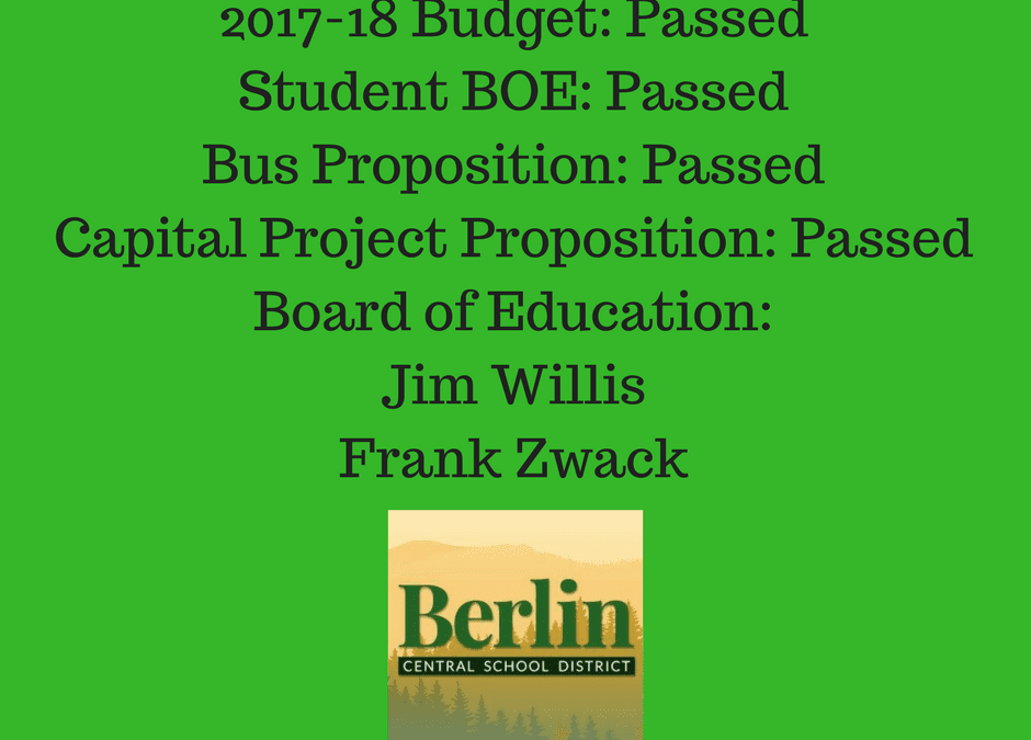 Berlin CSD 2017-18 School Budget Approved