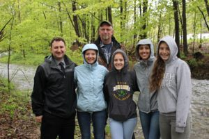 Bob Davis with Mr. Toole and his AP Environmental Science class