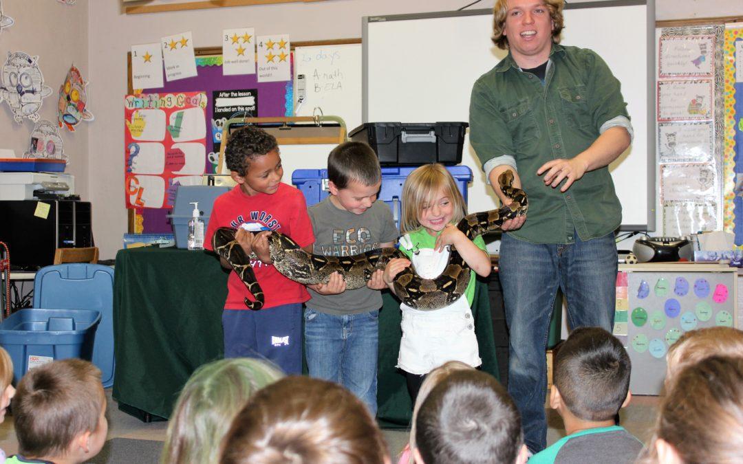 Exotic Animals Visit BES