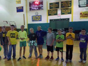 5th grade students at the pep rally