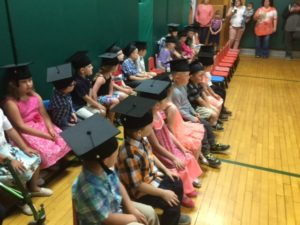 Pre-K students at graduation