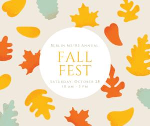 Leaves falling fall fest