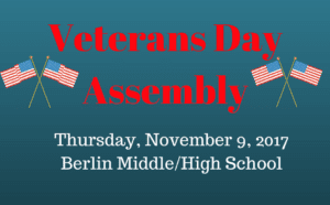 VEterans Day sign with flags on it