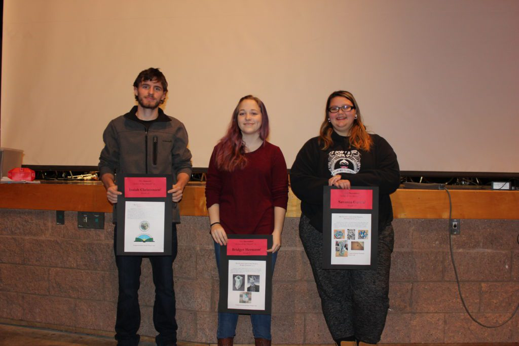Students at Awards Ceremony