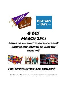College & Career day flyer with briefcase