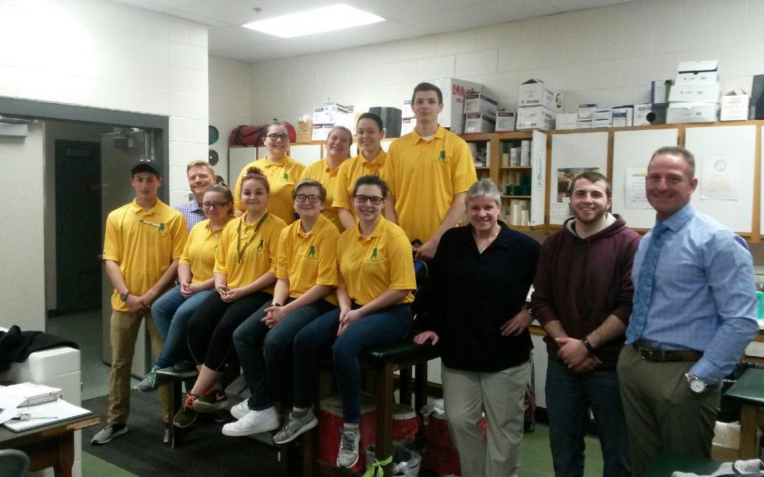 Sports Medicine Class visits HVCC programs