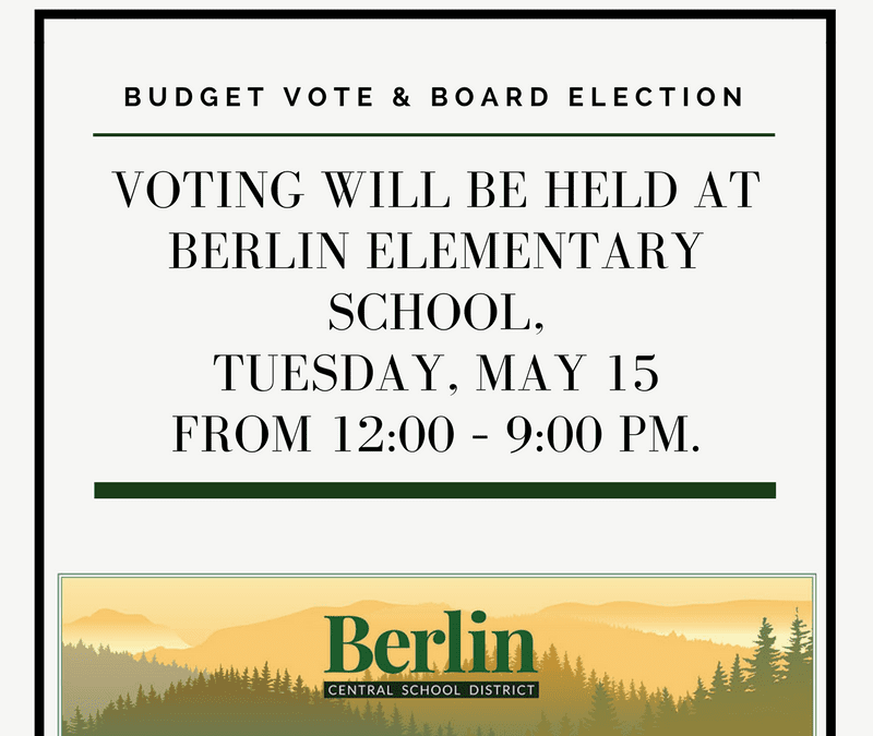 School Budget Vote – Tuesday, May 15