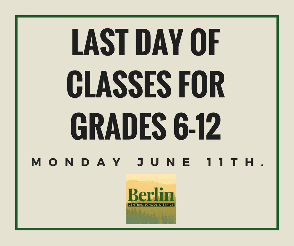 Last day of classes sign