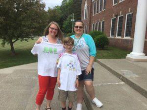 Kindergarten teacher Kasey Hannigan, Nathaniel Mace and Owner of LPB Designs Nicky Adamkiewicz