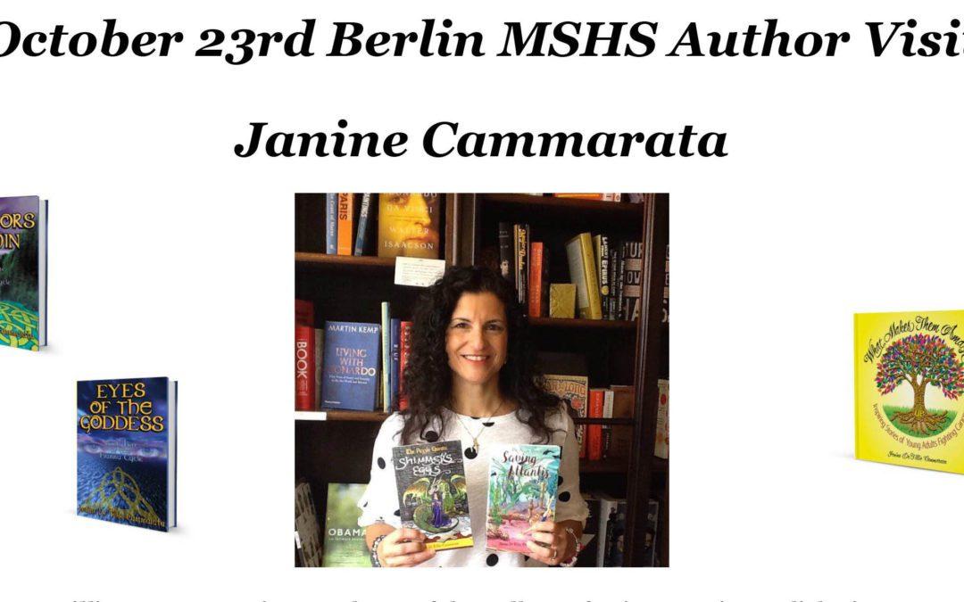Author Janine Cammarata to visit Berlin MSHS