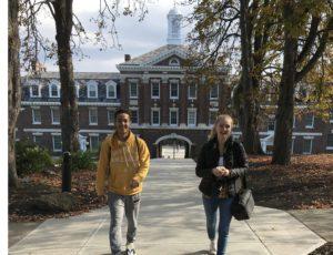 Walking on RPI Campus