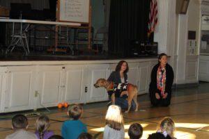 Dog at assembly