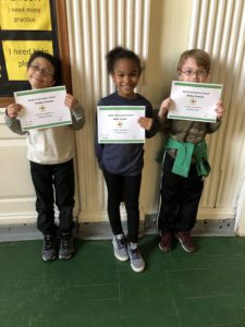 studnets holding awards