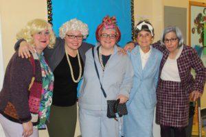 teachers dressed as 100 years old