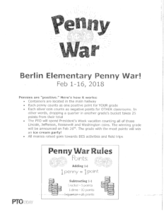 flyer with pennies