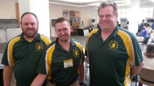 Berlin Middle and High School Science teachers and Science Bowl Coaches (l-r) Steve Mellor, Matt Christian and Brendan Scannell.