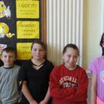 Merit Winners (l-r) Aiden Gates (3rd), Logan Lenyk (3rd), Lydia Morgan (3rd), Amelia Faulkner (4th), and Journey Sniger (4th)