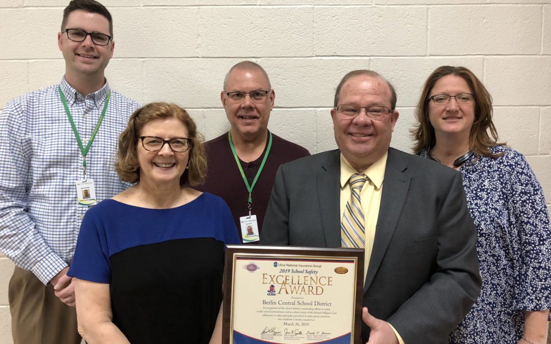 District Honored with School Safety Excellence Award