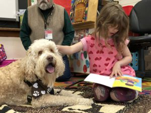 crosby reading with a student