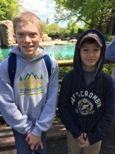 Studnets at zoo
