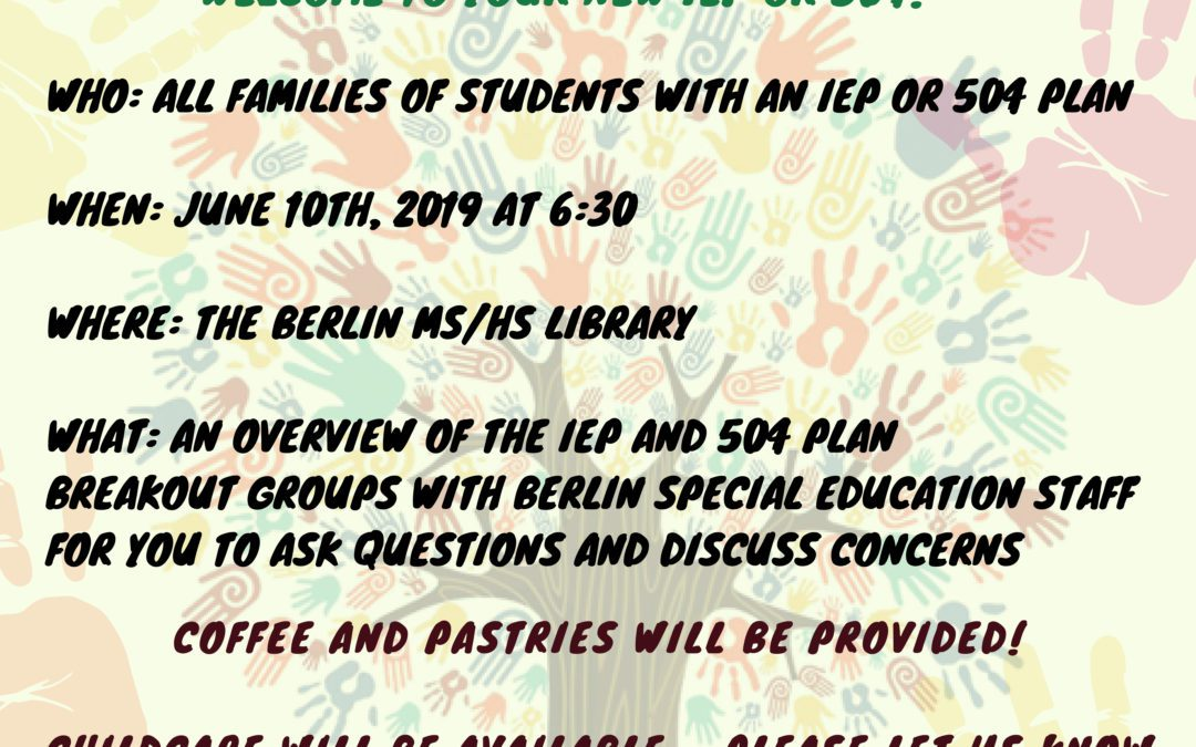 Special Education Parent and Family Information Night