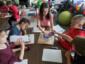 5th garders playing math game