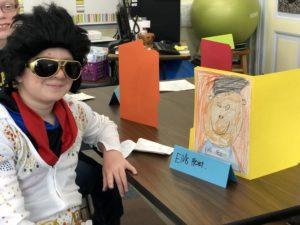 student dressed as elvis