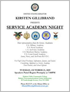 service academy flyer