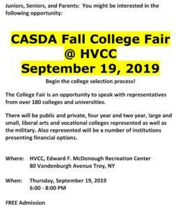 college fair info