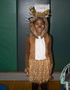 student dressed up