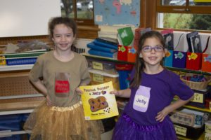 Students dressed up as Peanut butter and jelly