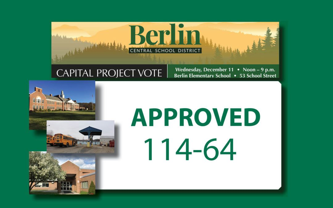 Berlin residents approve 2019 capital project