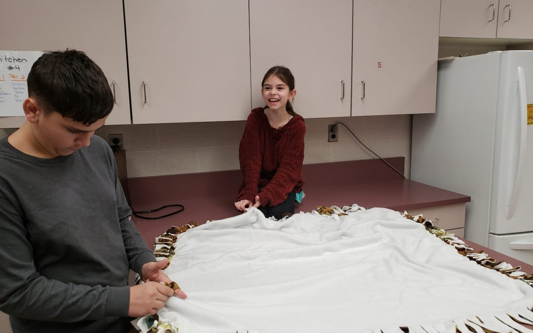 FCCLA members make no-sew blankets for Ronald McDonald House