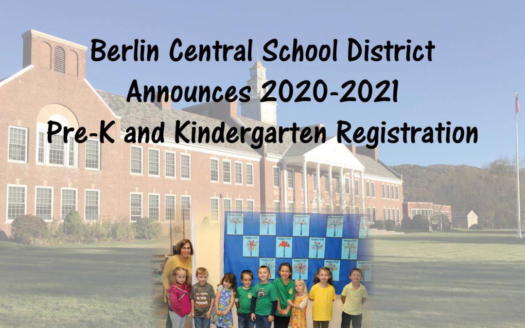 2020-2021 Pre-K and Kindergarten Registration