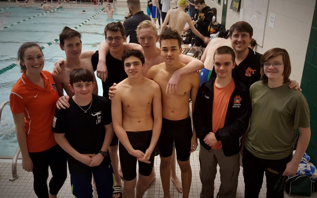 Varsity Boys Berlin/New Lebanon Swim Team Competes at the NYS Sectionals