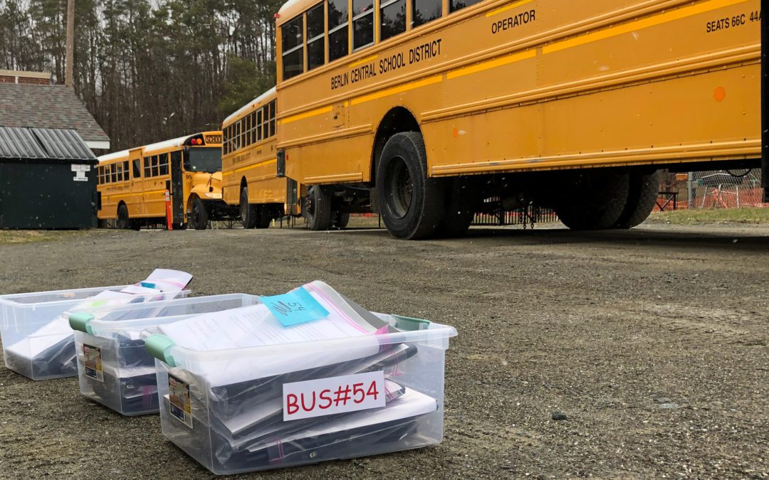 Meals and Technology Delivered to Students Monday Morning
