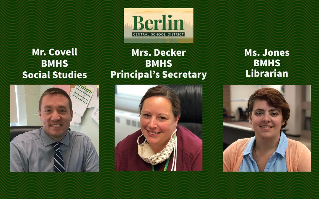 Meet the New Staff at BMHS