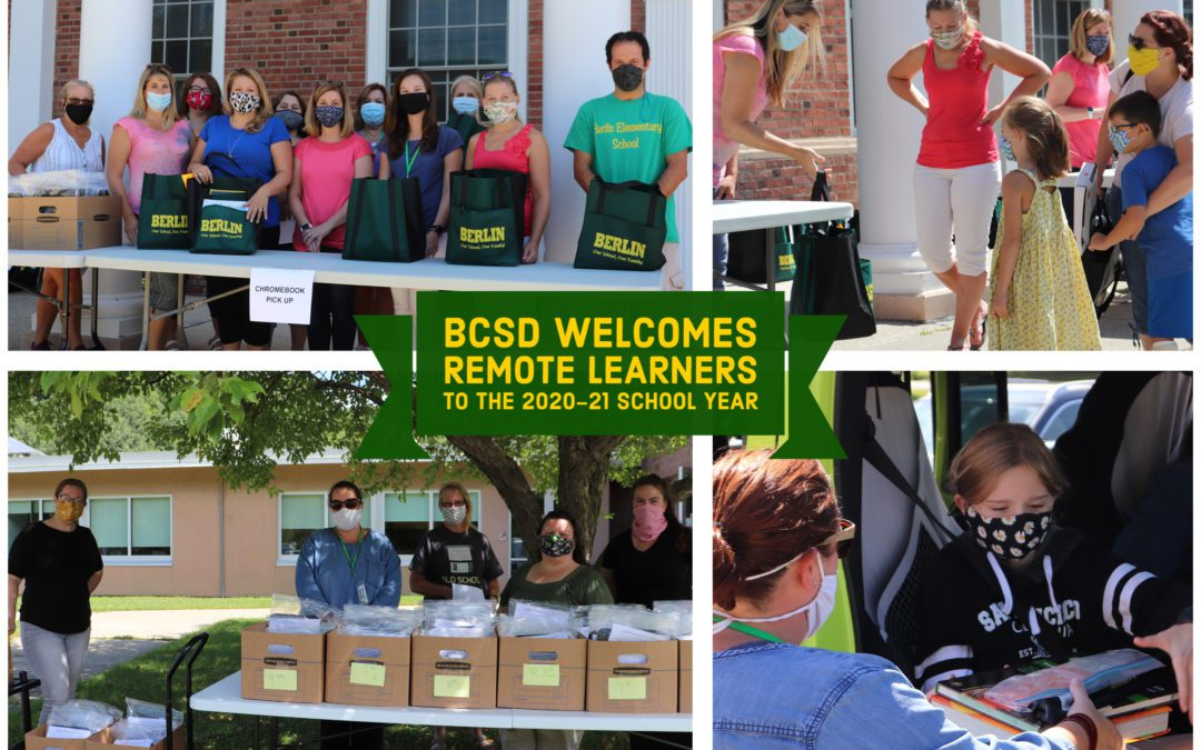BCSD's  Remote Learners Get Prepared to Start the School Year