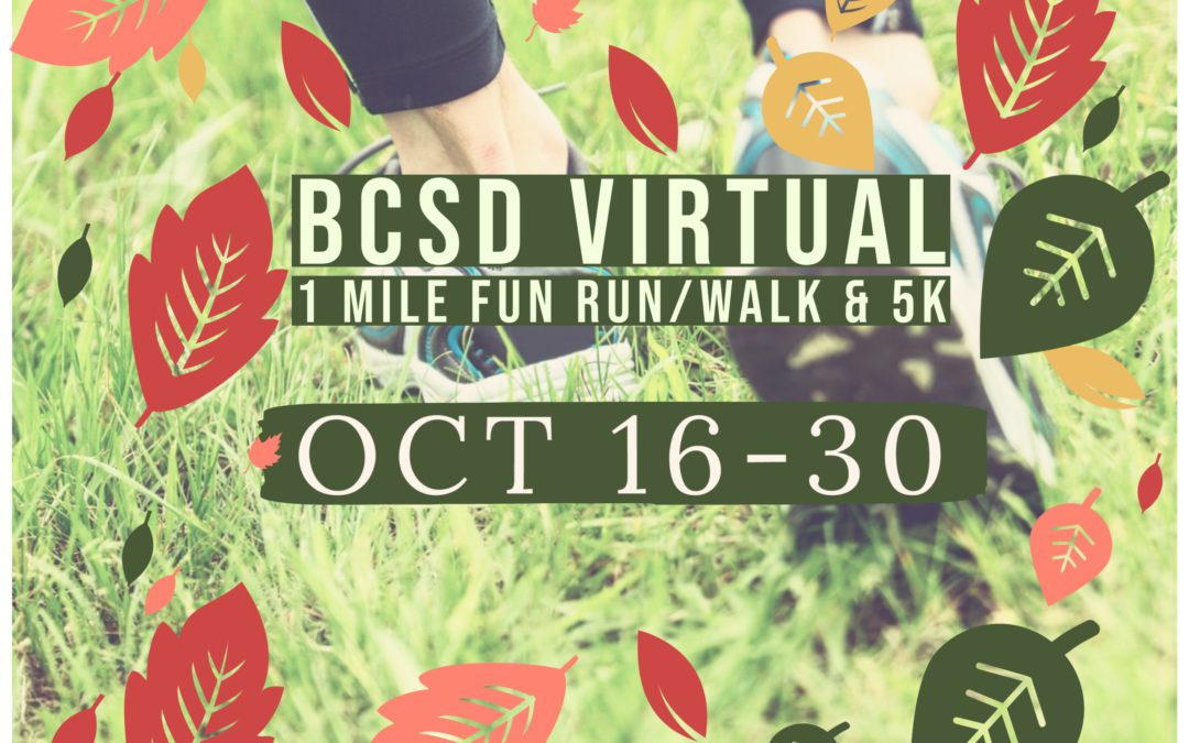 Fall Virtual 1 Mile Fun Run and 5k Extended to 10/30
