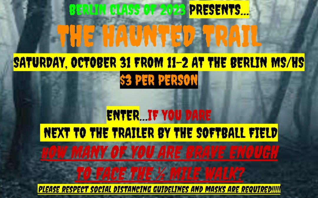 BCSD Class of 2023 Hosts Haunted Trail 10/31