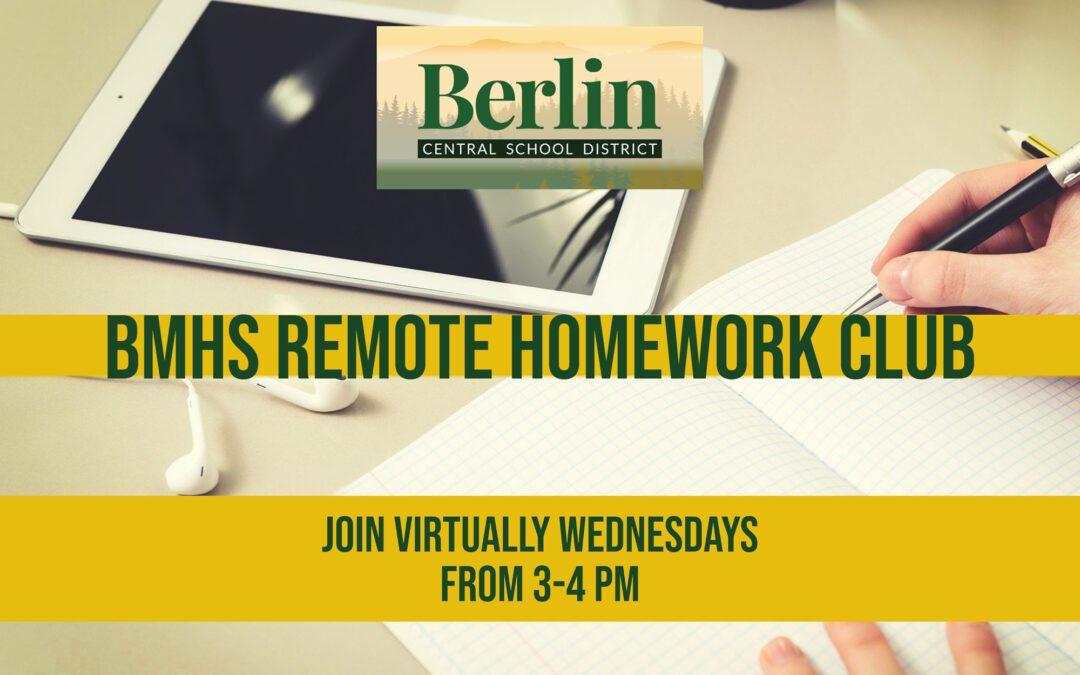 BMHS Remote Homework Begins 1/6